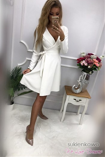 2dc15f950e AMANDA - żakietowa sukienka ecru AMANDA - żakietowa sukienka ecru