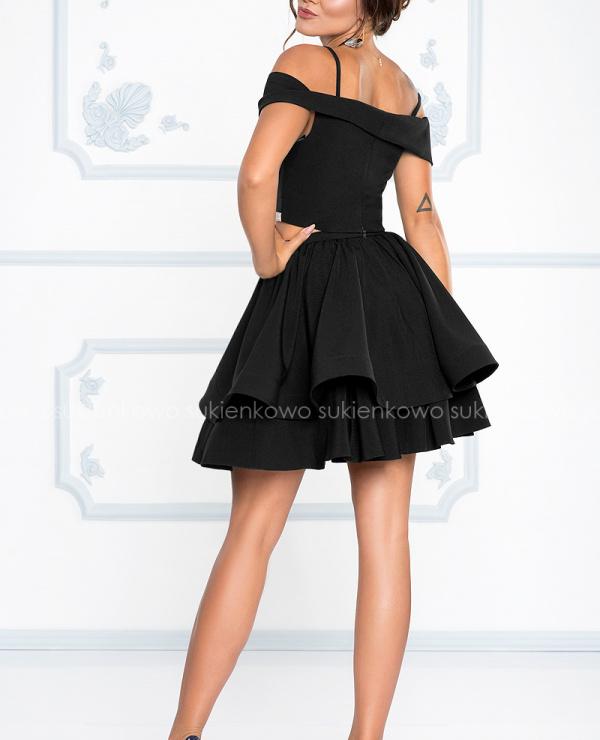 31059282c91b GIORGIA - Sukienka komplet bluzka z spódnicą czarna