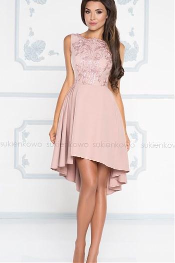81bbfe5423 HARRIET - Asymetryczna sukienka wizytowa różówa ...