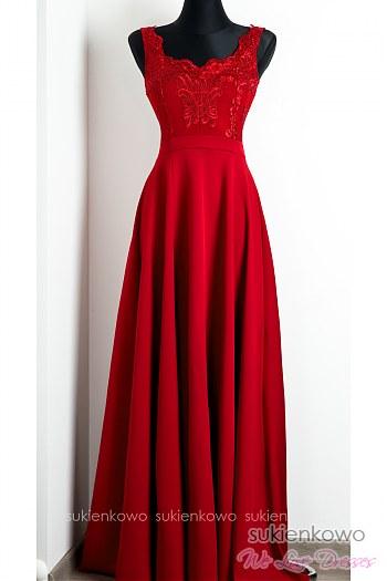 69f7299bc1 VIRGINIA - Długa sukienka z rozcięciem na nodze czarna